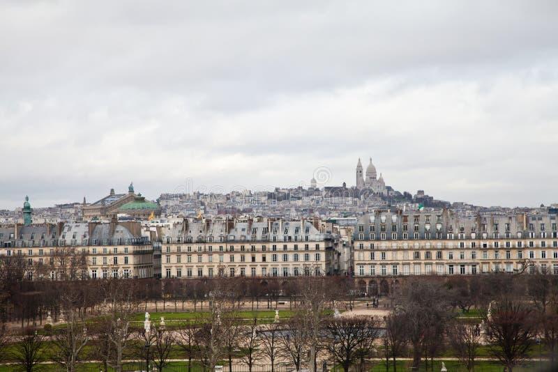 Tempestad en Montmartre foto de archivo
