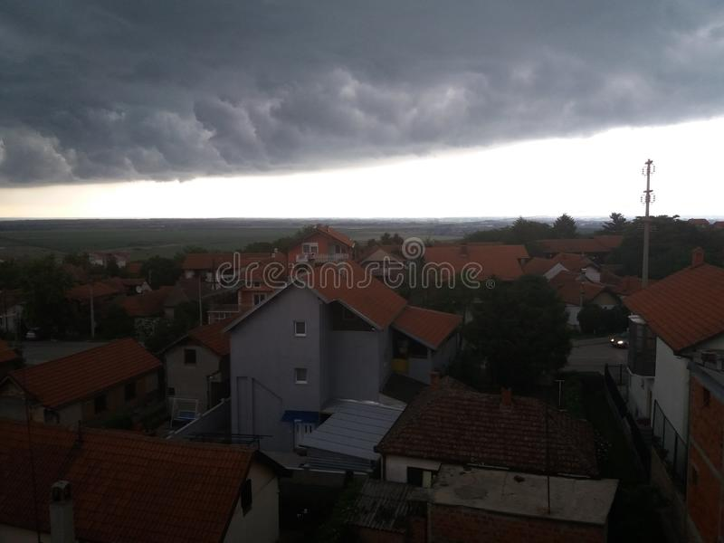 Tempestade acima de Smederevo foto de stock royalty free