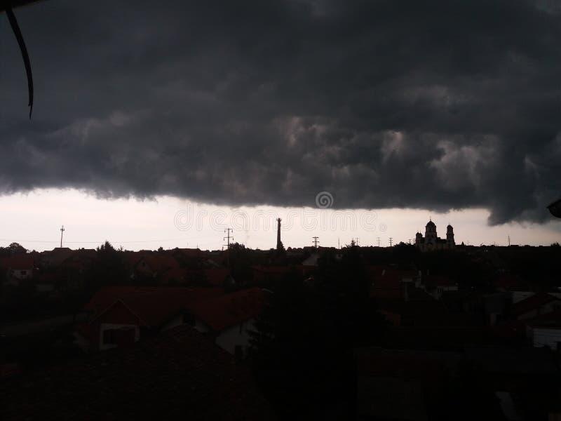 Tempestade acima de Smederevo fotografia de stock royalty free