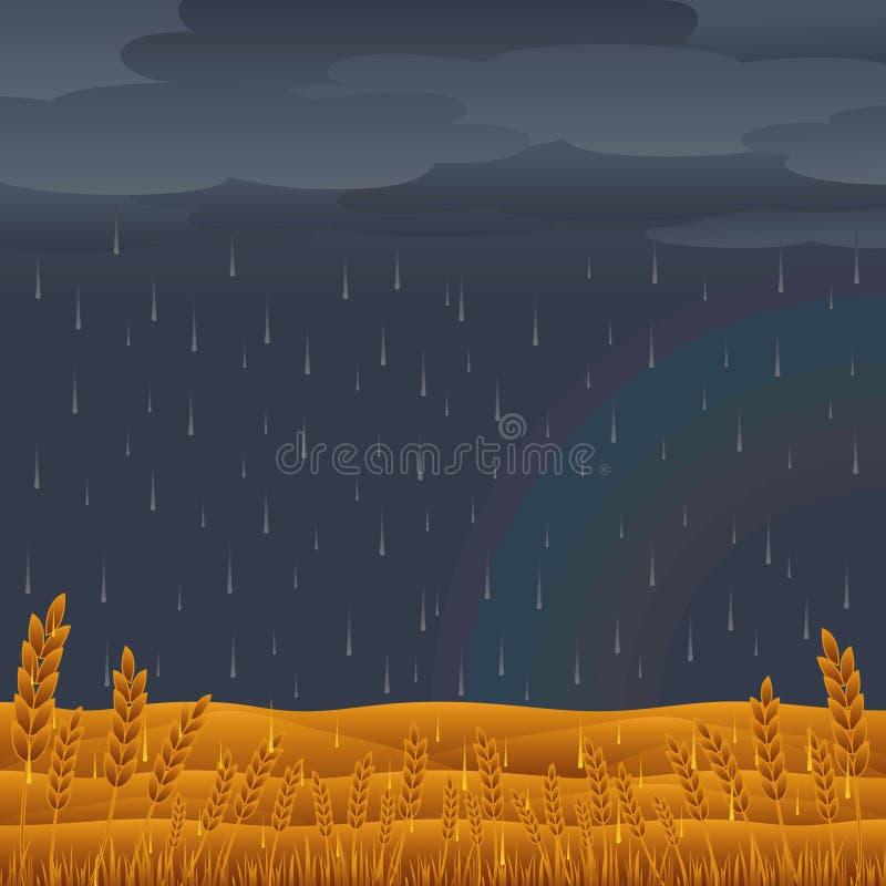 Tempestade da chuva ilustração royalty free