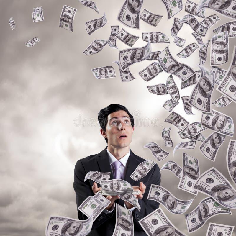 Tempestade da finança foto de stock