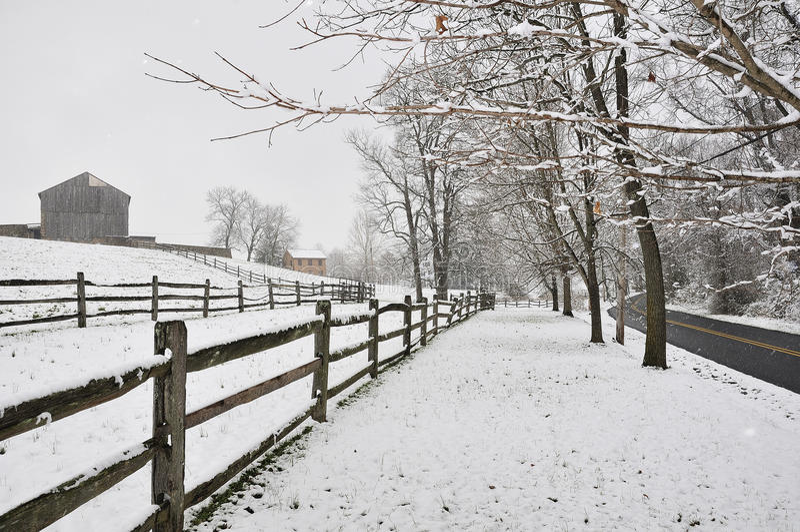 Tempestade da neve foto de stock royalty free
