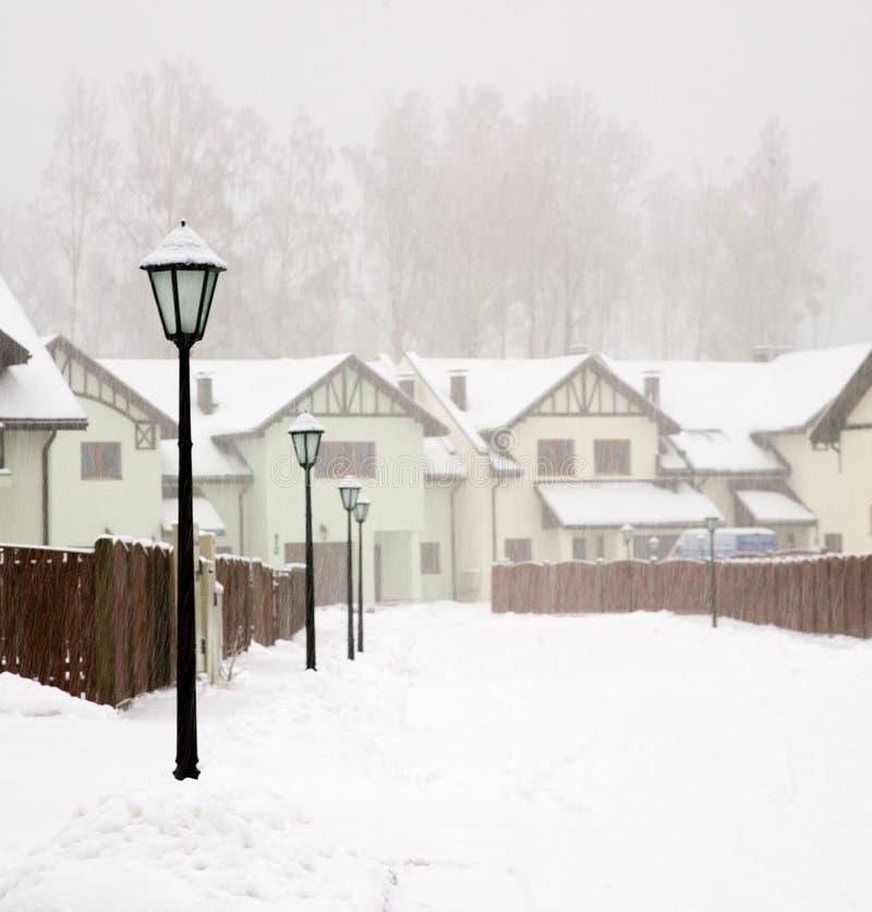 Tempestade da neve imagens de stock royalty free
