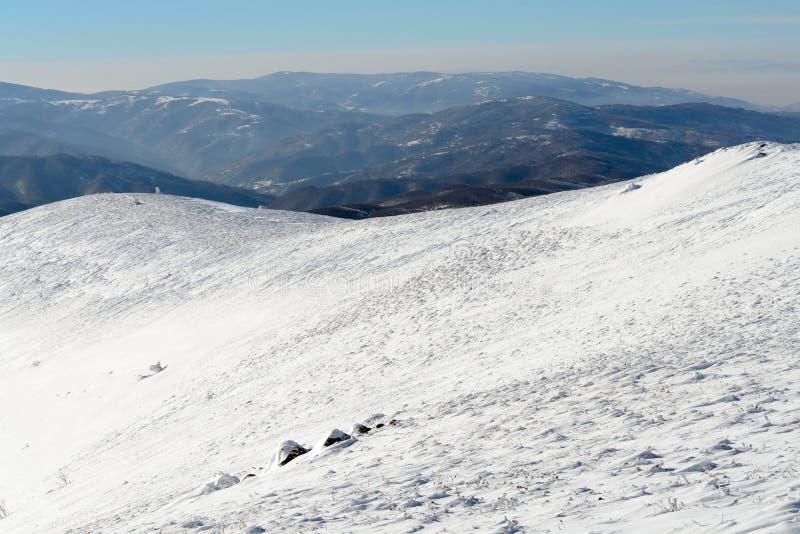 Tempestade da neve que vem acima imagem de stock