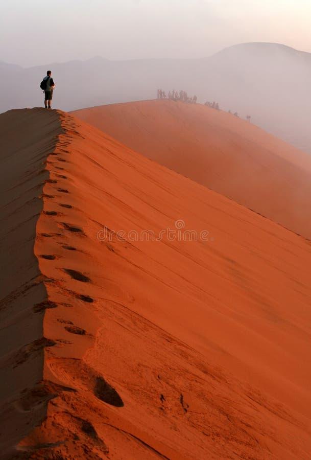 Tempestade de areia fotografia de stock
