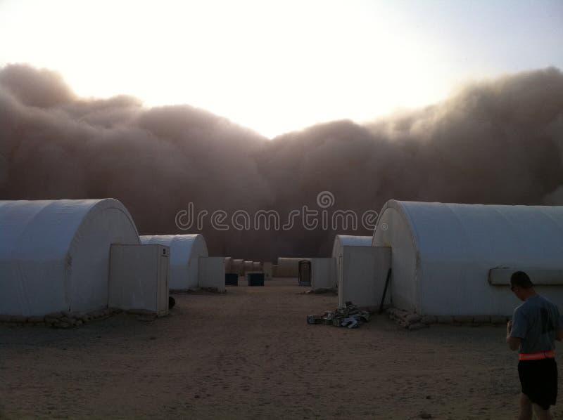 Tempestade de areia Kuwait fotos de stock royalty free