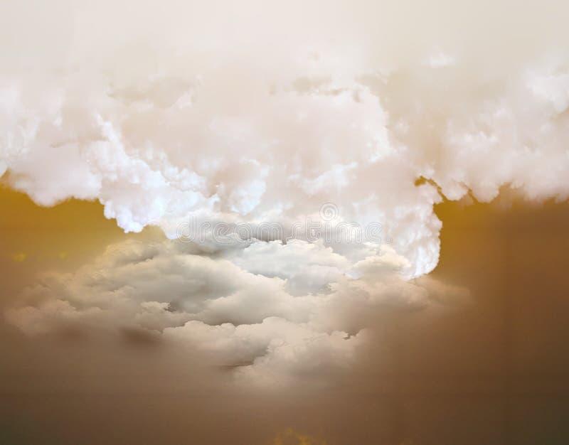 Tempestade de areia perigosa da poeira do fenômeno natural fotos de stock