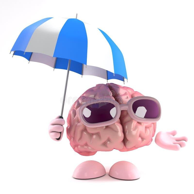 tempestade de cérebro 3d ilustração do vetor