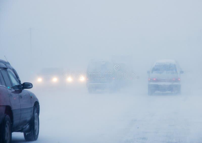 Tempestade de neve foto de stock