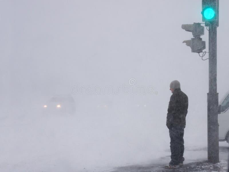 Tempestade de neve imagem de stock