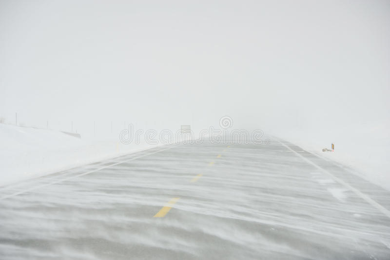 A tempestade de neve imagens de stock