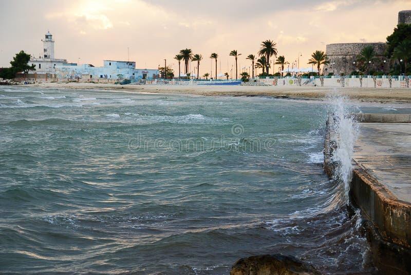 Tempestade do mar foto de stock royalty free
