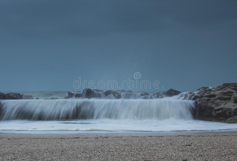 Tempestade do mar fotografia de stock royalty free