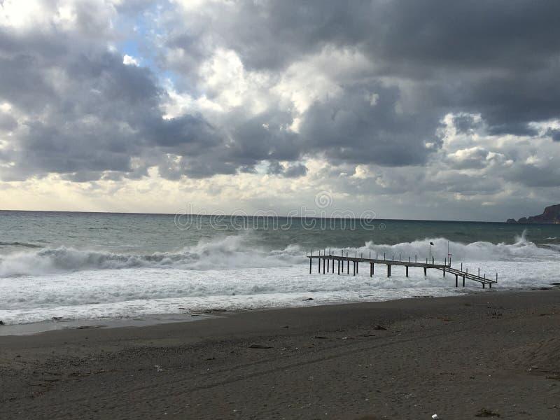 Tempestade do mar fotografia de stock