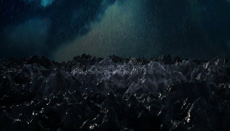 Tempestade do oceano ilustração do vetor