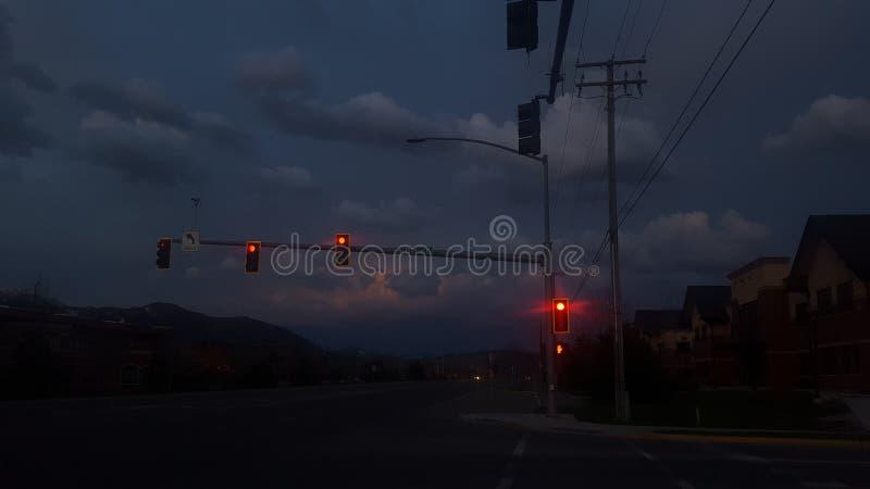 Tempestade do por do sol foto de stock royalty free