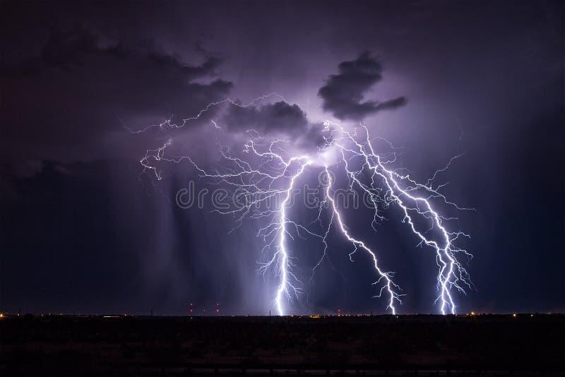 Tempestade do relâmpago do Arizona imagem de stock royalty free
