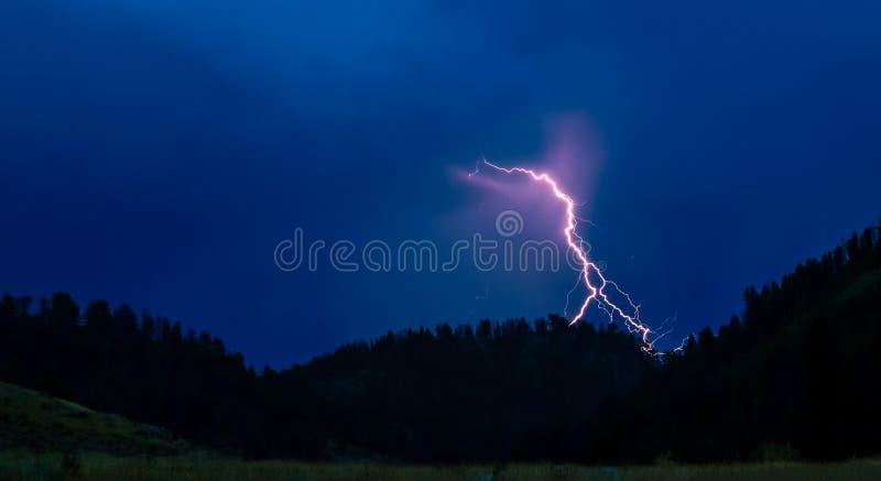 Tempestade do relâmpago sobre o parque Cherokee imagem de stock royalty free