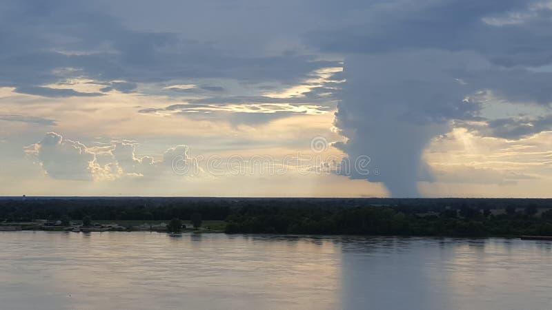 Tempestade do rio Mississípi foto de stock