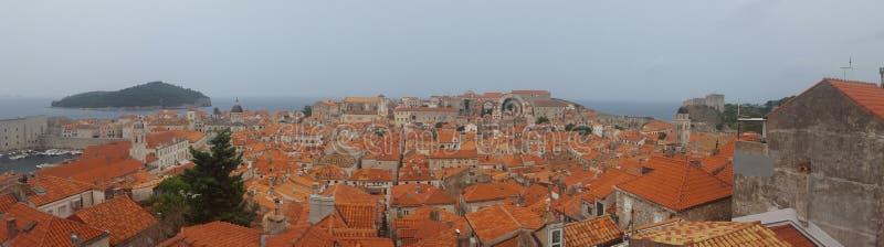 Tempestade Dubrovnik, Croácia dalmatia fotografia de stock