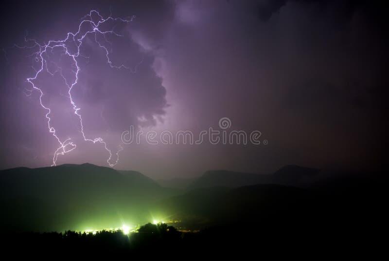 Tempestade elétrica fotografia de stock royalty free