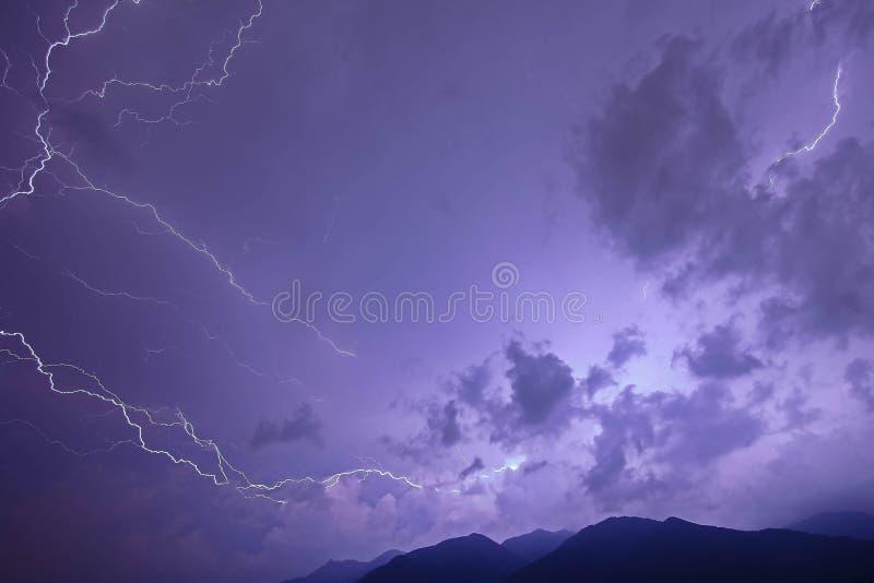 Tempestade elétrica fotografia de stock