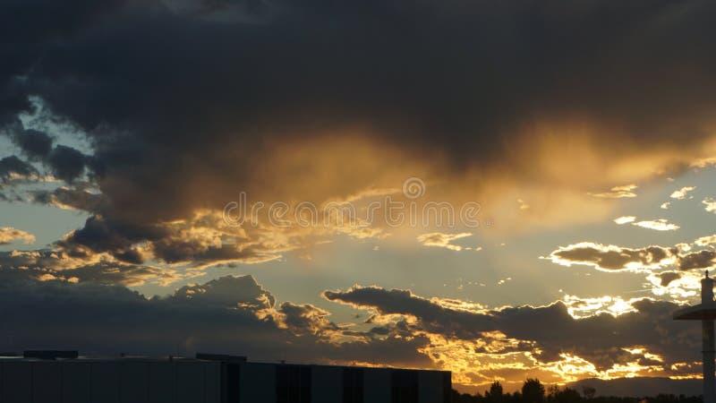 A tempestade está vindo fotografia de stock