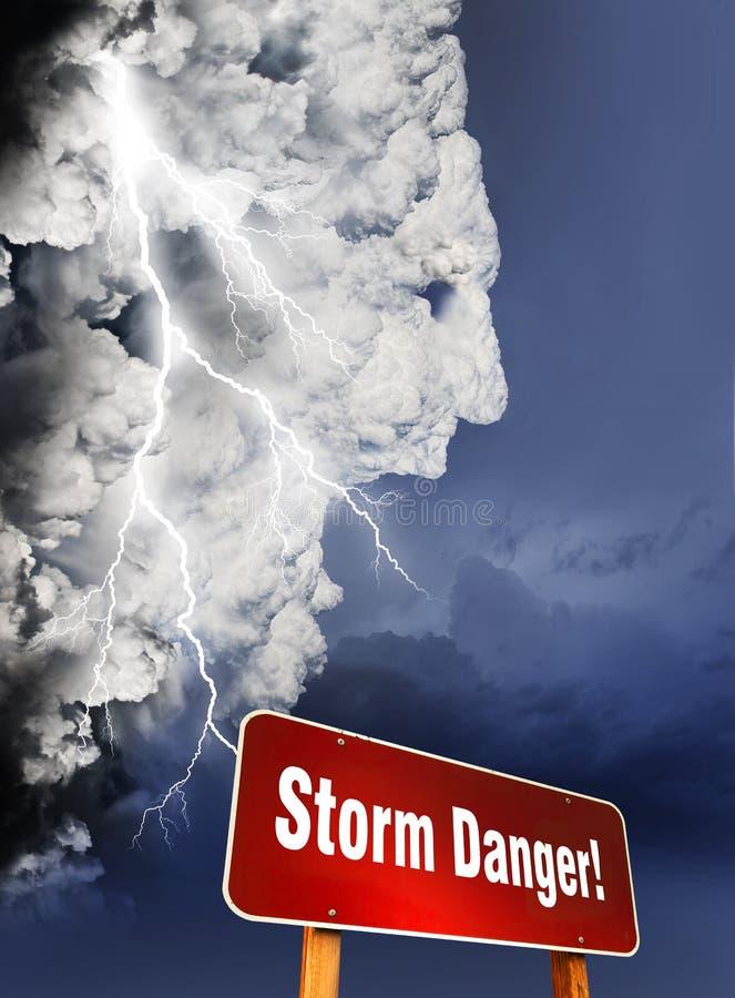 A tempestade está vindo foto de stock royalty free