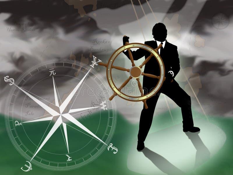 Tempestade financeira ilustração stock