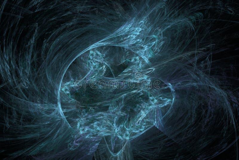Tempestade fria da energia, ilustração do fractal ilustração do vetor