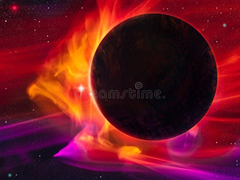 Tempestade magnética - pintura de Digitas ilustração do vetor