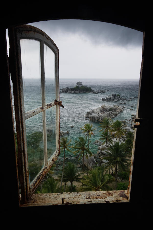 Tempestade no paraíso imagens de stock