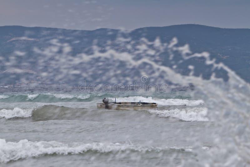 Tempestade sobre o mar fotografia de stock