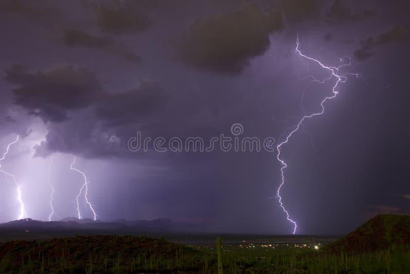 Tempestades de deserto foto de stock royalty free