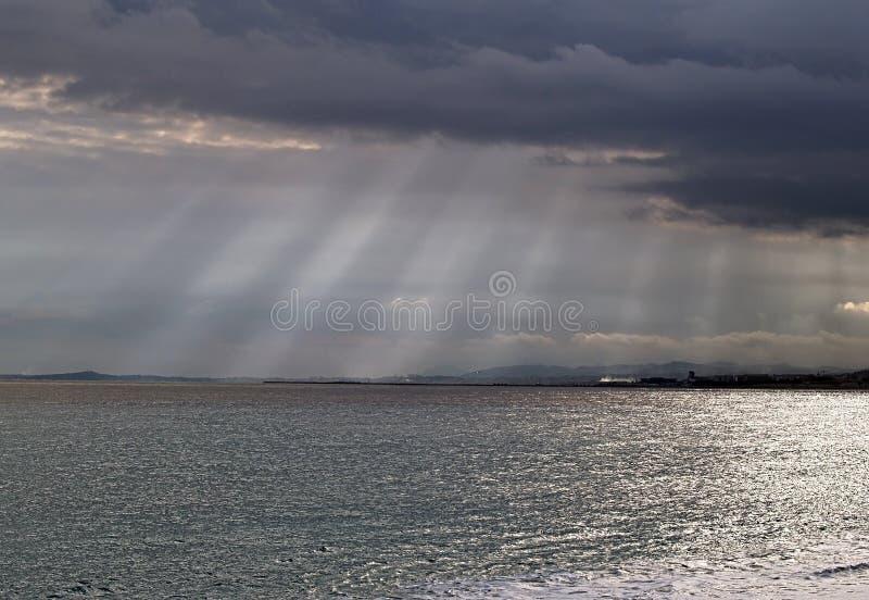 Tempestades no mar na costa francesa sul fotografia de stock royalty free