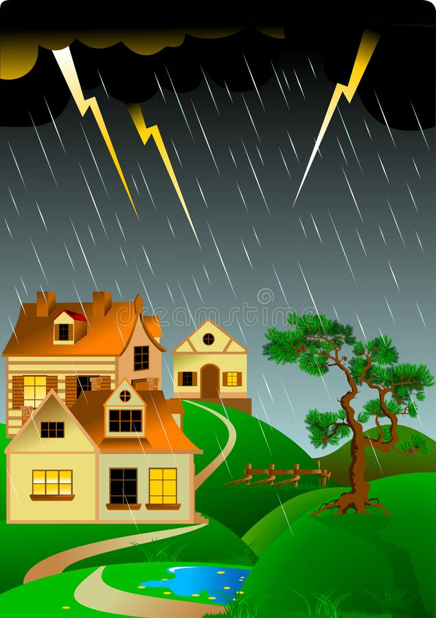 tempestuoso stock de ilustración