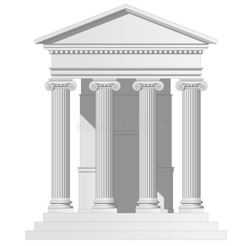 Tempiale illustrazione vettoriale