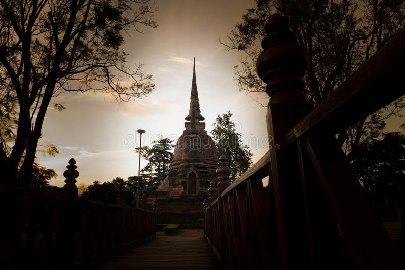 Tempiale antico della Tailandia fotografia stock libera da diritti