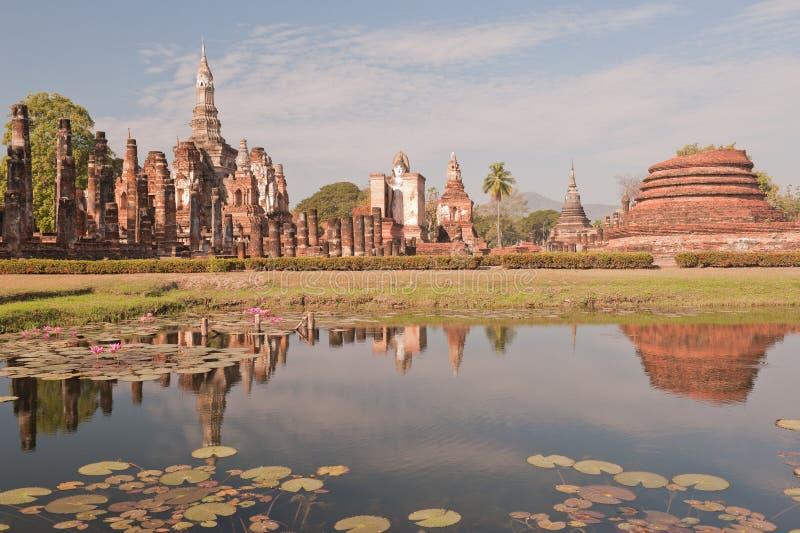 Tempiale antico in Tailandia. fotografia stock