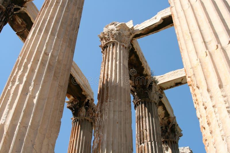 Tempiale a Atene fotografia stock