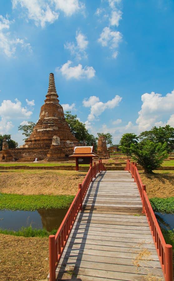 Tempiale in Ayutthaya immagini stock libere da diritti