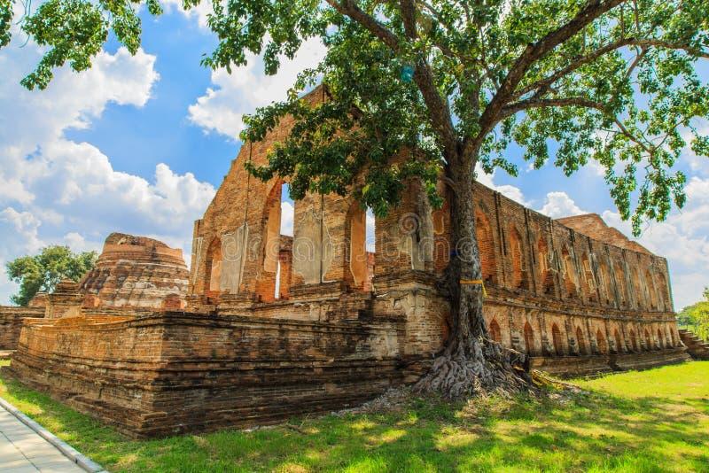 Tempiale in Ayutthaya immagine stock
