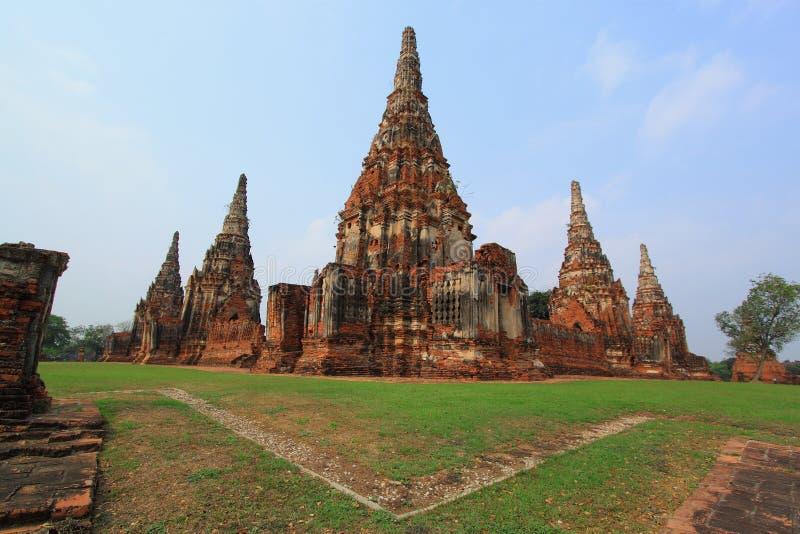 Tempiale in Ayutthaya vicino a Bangkok, Tailandia. fotografie stock libere da diritti