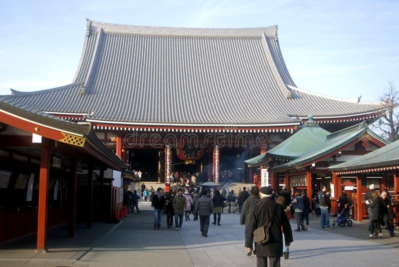 Tempiale buddista in Asakusa, Tokyo, Giappone di Senso fotografia stock libera da diritti