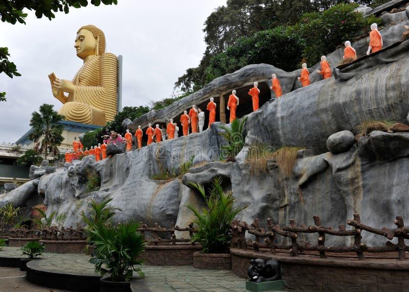 Tempiale buddista Dambulla Sri Lanka fotografie stock libere da diritti