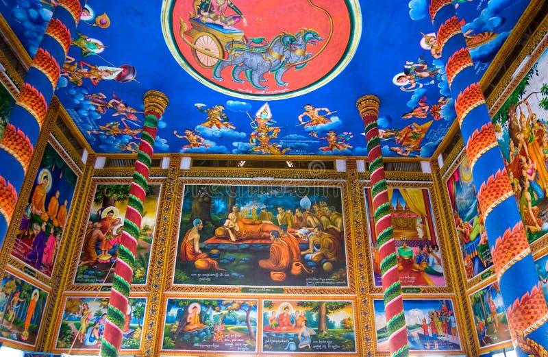 tempiale buddista del kratje della Cambogia immagini stock libere da diritti