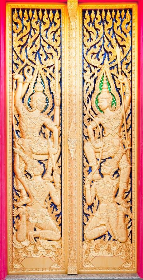 Tempiale buddista del portello dorato fotografia stock