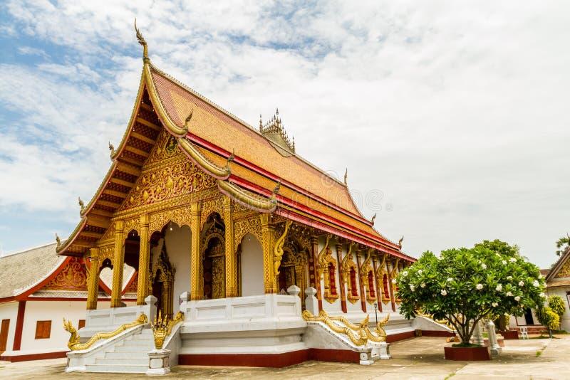 Tempiale buddista in Luang Prabang, Laos immagini stock
