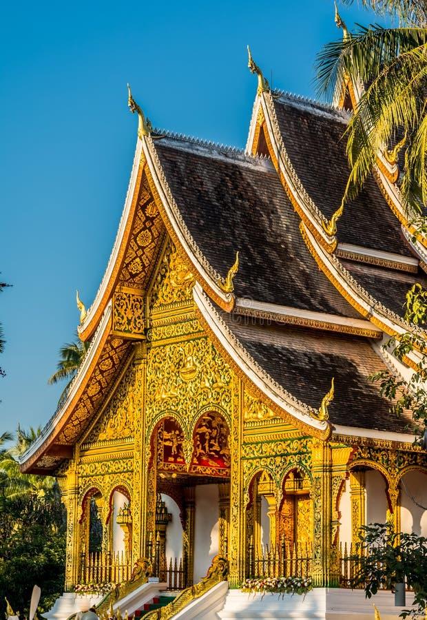 Tempiale buddista in Luang Prabang, Laos fotografia stock
