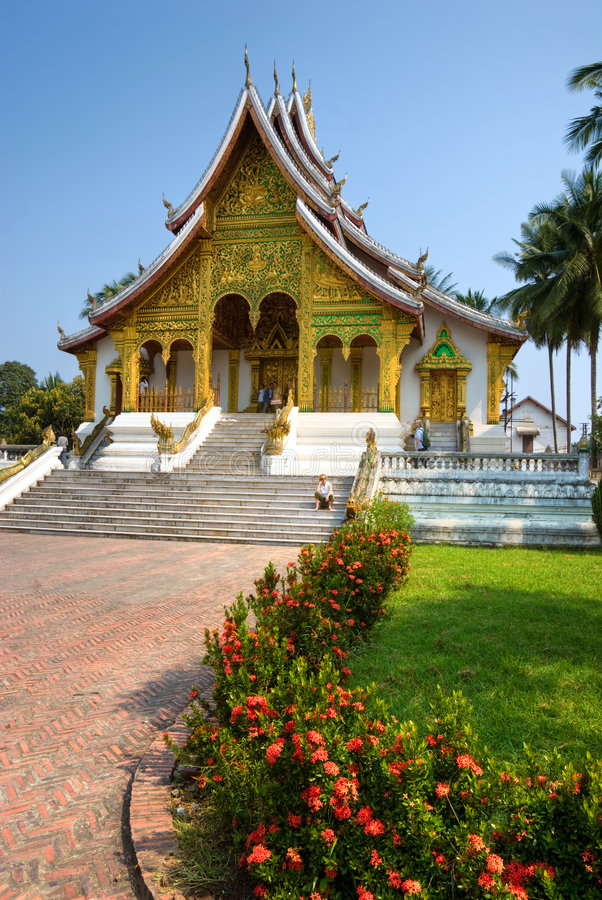 Tempiale buddista in Luang Prabang, Laos. fotografie stock libere da diritti
